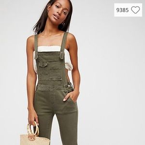 NEW Free People Washed Denim Overall